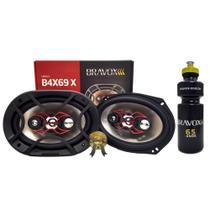 Par Alto-Falante Quadriaxial 6x9 Bravox B4X69X 140RMS+PRESENTE -