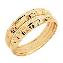 Par Aparador em Ouro de Aliança para noivado e casamento Oro Nero 2 peças - Meu Anel