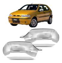 Par Aplique Retrovisor Fiat Palio Uno Cromado 00/10 - Shekparts