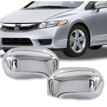 Par Aplique Retrovisor Honda Civic 2007 A 2012 Sem Pisca -