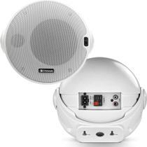 Par Caixas De Som Frahm CRBT4 Bluetooth Ativa Passiva Branca -