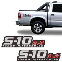 Par de Adesivo Lateral Chevrolet S10 2.8 Turbo Intercooler - Sportinox