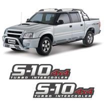 Par De Adesivos S10 2009/2011 Turbo Intercooler 4x4 Vermelho - Sportinox