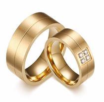 a655eee37a5 Par De Alianças Banhada Ouro 18k Casamento Ou Noivado - Margo bonita