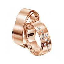 Par de Alianças de Casamento Luxo em Ouro 18k - Ditalia