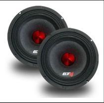"Par de Alto falantes Etm 6"" Mid bass Emb6-180 red bullet 4ohms -"