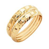 Par de Aparador Aliança em Ouro 18k Segnato para noivado e casamento - Meu Anel