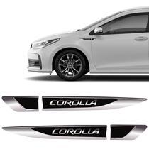 Par De Aplique Lateral Corolla 2015, 2016, 2017, 2018 e 2019 Emblema Resinado - Sportinox