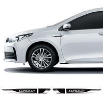 Par De Aplique Lateral Corolla 2015/2019 Emblema Resinado - Sportinox