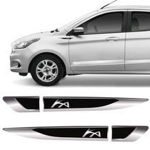 Par De Aplique Lateral Ford Ka 2015, 2016, 2017, 2018 e 2019 Emblema Resinado - Sportinox