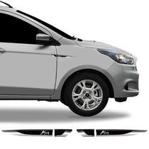 Par De Aplique Lateral Ford Ka 2015/2019 Emblema Resinado - Sportinox