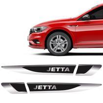Par De Aplique Lateral Jetta 2015/2021 Emblema Resinado - Sportinox