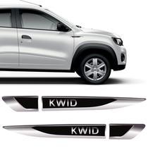 Par De Aplique Lateral Renault Kwid 2017, 2018 e 2019 Emblema Resinado - Sportinox
