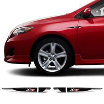 Par De Aplique Lateral Toyota Corolla Xrs Emblema Resinado - Sportinox