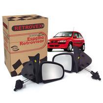 Par De Espelho Retrovisor Com Controle Manual Retrovex Celta 2001 A 2006 Kit838 -
