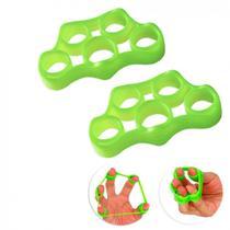Par de Exercitador para Dedos 4kg Intensidade Media Verde  Liveup -