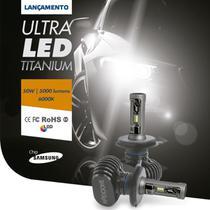 Par De Lâmpada Ultra Led Titanium Shocklight H1 10000 Lm -