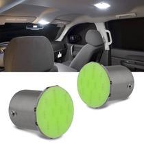 Par de Lâmpadas 12 LEDs 2 Polos Trava Reta 8000K Placa Teto Porta Malas Porta-Luvas Lanterna Farol - F.S.