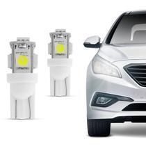 Par de Lâmpadas LED T10 5 Leds Lanternas Placa Painel - Prime