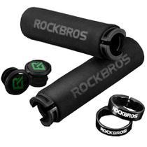 Par de Manopla Anatômica para Guidão Bicicleta Mtb Preta BT1001 Rockbros -