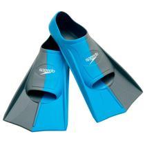 Par De Nadadeiras Training Fin Dual Azul Silicone Speedo -