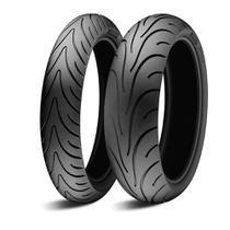 Par de Pneu Moto Michelin PILOT ROAD 2 120/70 ZR17 M/C 58W Dianteiro TL + 180/55 ZR17 73W Traseiro TL -
