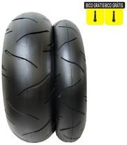 Par De Pneus Cb 300 Ninja 300 CBX250 Twister BMW MT03 Traseiro 180/55-17 E Dianteiro 110/70-17 Furia - Cinborg