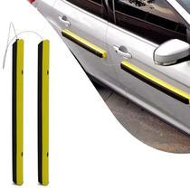 Par de Protetor Removível Porta de Carro Preto e Amarelo Com Imã Protector - Tapcerto