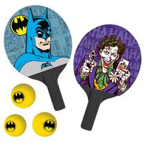 Par De Raquetes Ping-Pong + 3 BOLAS Tenis De Mesa - Joker & Batman: The Face - Bel Fix