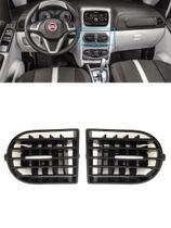 Par Difusor Central Saída Ar Central Botão Prata Idea 2014 - Fiat