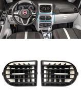 Par Difusor Central Saída Ar Central Botão Prata Idea 2015 - Fiat