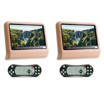 Par DVD Portátil Encosto Cabeça Bege Tela 9 Polegadas USB SD Game Wireless Joystick - First Option