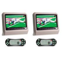 Par DVD Portátil Encosto Cabeça Cinza Tela 9 Polegadas USB SD Game Wireless Joystick - First Option