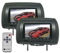 Par Encosto / Descanso De Cabeça E-Tech - Universal - Couro Tela LCD 7 - 2 Peças -
