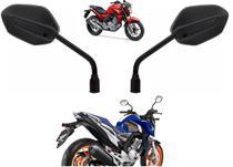 Par Espelho Retrovisor Preto Moto Rena Honda Cb 250 Twister Ano 2016 Até 2021 - 4303 - Renascença
