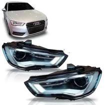 Par Farol Audi A3 Hatch Sedan 2013 2014 2015 C/LED Novo -