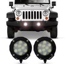 Par Farol Auxiliar Power LED Autopoli 9 LEDs 12V 24V 9W Banco para Aplicação Farol de Milha -