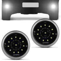 Par Farol de Milha Auxiliar Redondo Luminus 12 LEDs 6500K 1400LM 16W 12V Luz Branca Autopoli -
