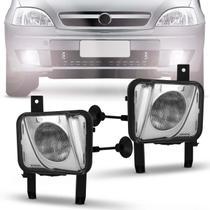 Par Farol de Milha Corsa Sedan Hatch Meriva 2003 a 2012 Montana 2003 a 2010 Auxiliar Neblina - Kit prime