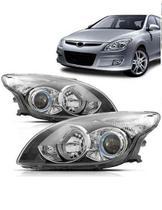 942034a127 Par Farol Hyundai I30 2009 2010 2011 2012 Máscara Negra -