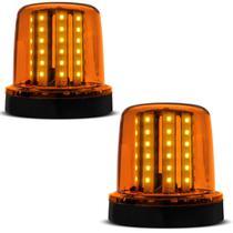 Par Giroflex Luz Emergência Sinalizador 54 LEDs 12 24V Âmbar Giroled Fixação Parafuso - Autopoli