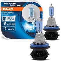 Par Lâmpada Osram Cool Blue Intense HB3 Luz Super Branca Visual Xenon 4200K -