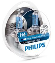 Par Lampada Philips H4 Crystal Vision Ultra New 4300k -