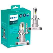 Par Lâmpada Philips H4 Led Xtreme Ultinon 6200K 12V 15W Farol -