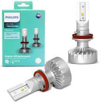 Par Lâmpada Philips LED Fog H8 H11 H16 Xtreme Ultinon Multi 6200K 35W Efeito Xenon Modelo Original -