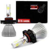 Par Lâmpada Power LED 3D Headlight H16 6000K 12V 24V 50W 9000LM Efeito Xênon Carro Moto Caminhão - Shocklight