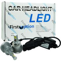 Par Lâmpada Super Led Automotiva Kit 6000 Lumens 12V 24V 30W First Option Farol 6000K