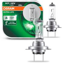 Par Lâmpadas Halógena Ultra Life H7 3200K 12V 55W Aplicação Farol Original Osram -