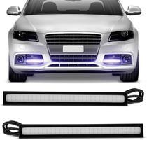 Par Lâmpadas LED Auxiliar Dia DRL 10000K Azul Violeta Efeito Xenon 14cm - Shocklight