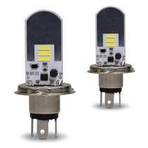 Par Lâmpadas LED H4 6500K 12V 24V 2600LM Efeito Xênon Carro Moto e Caminhão Original Autopoli -